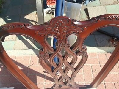 Set of 6 Wood carved Dining Chairs with Ball and Claw Feet