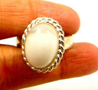 Charming Botswana Agate Silver Designer Jewelry Ring Size 8.75 JC6352