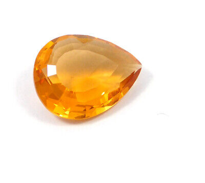 21 Cts. Natural Faceted Pear Shape Orange Hydro Cut Gemstone AAK1393