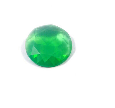 29 Cts. Natural Faceted Green Chalcedony Cut Gemstone AAK1370