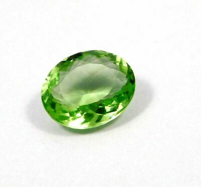 Treated Faceted Green Apatite Gemstone  15.05 CT 17x13 mm RM15344