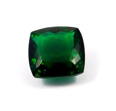 A++ Treated Faceted Green  Apatite Gemstone 37.9 CT 20x20mm  RM16887
