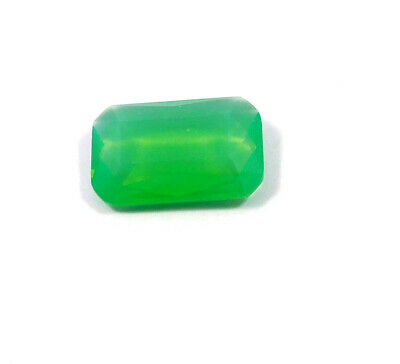 30 Cts. Natural Faceted Green Chalcedony Cut Gemstone AAK1373