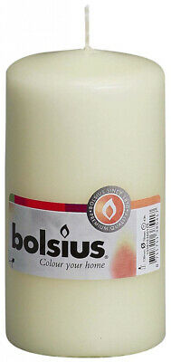 Bolsius Pillar Candle - Ivory 130mm x 70mm Long Burning Life Fast Postage