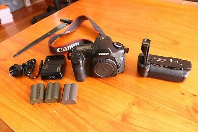 Canon EOS 5D  Full Frame DSLR Camera Body with genuine Canon grip.