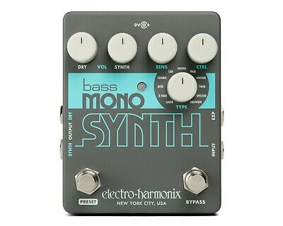 Electro Harmonix EHX Bass Mono Synth, Bass Synthesizer, Brand NEW in Box