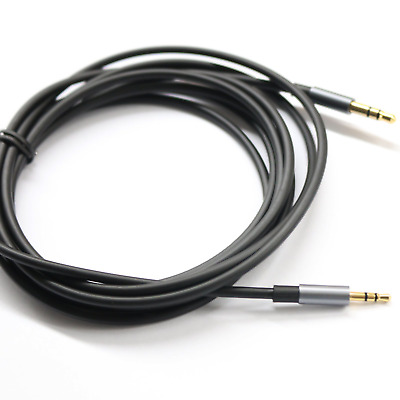 Black 6ft Gold Plated Design 3.5mm Male to 2.5mm Male Car Auxiliary Audio cable