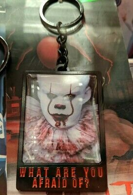 NEW! IT Pennywise Clown Keychain Horror Movie WHAT ARE YOU AFRAID OF?