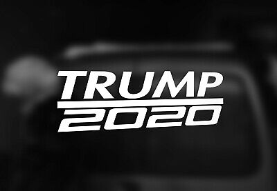 "TRUMP 2020 Vinyl Decal Sticker 2"" x 6"". Choose Your Color"