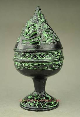 chinese old hand engraving Bronze incense burner pretty collectible c01