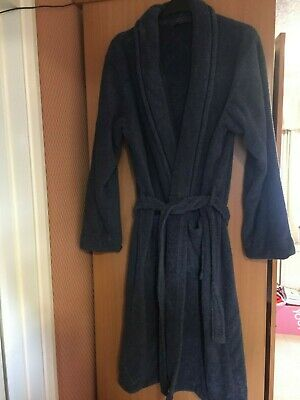 Mens Marks & Spencer  Large Luxury Toweling Dressing Gown Blue