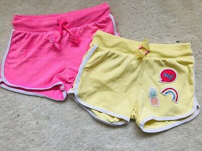Girls Pink And Yellow Shorts Age 3-4 Years From F&F