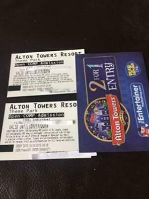 2 x Alton Towers Theme Park Tickets and 2 for 1 entry