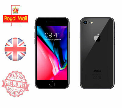 Apple Iphone 8  Unlocked Sim Free Mobile Phone 4G 64GB 128GB 256 GB All Colours