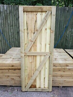Super Heavy Duty Fully Framed Pressure Treated Garden Side Gate 6'X2'3""