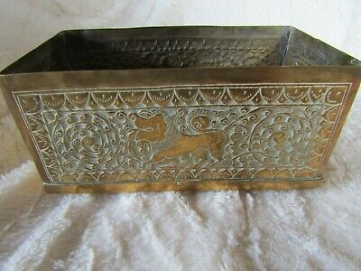 An antique oriental Chinese Brass Box
