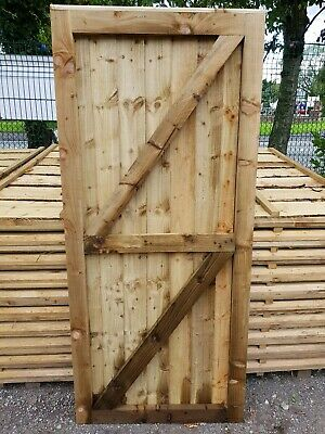 Super Heavy Duty Fully Framed Pressure Treated Garden Side Gate 176Cm X 78Cm