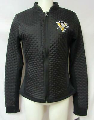 Touch by Alyssa Milano Pittsburgh Penguisn Womens Small Quilted Jacket B1 342