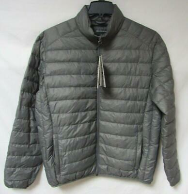 Saks 5th Avenue Mens Large Lightweight Quilted Down Winter Jacket Coat B1 331