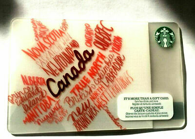 Starbucks 2014 Destinations Canada Gift Card Brand New No Value Bilingual Maple