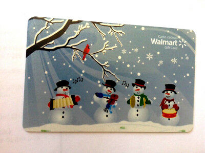 Walmart Christmas Snowman Collectible Gift Card Fd-29402