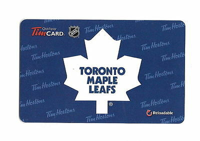 Tim Horton Toronto Maple Leafs 2014 Gift Cards No Value Mint !