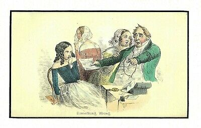 """Something Wrong"" (The Young Lady Has Overspent) H/C Eng. Attrib. G. Cruikshank"