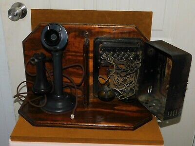ANTIQUE Western Electric 1915 Bell Telephone & Box Wall Mount  Collectible RARE