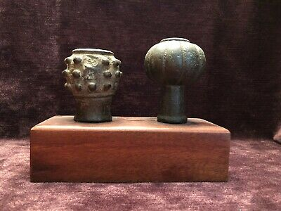 Mace Head - Bronze. Double and with Display Mount