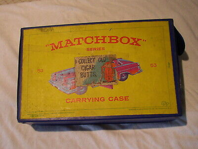 Vintage 1960's lot of Matchbox Cars & Trucks w/ Carrying Case.