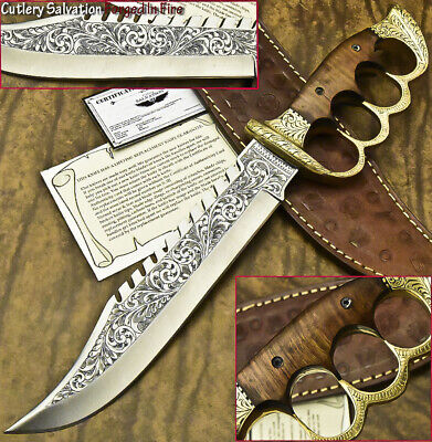One-Of-A-Kind Rare Custom Hand Made D2 Tool Steel Knife | Chisel Engraved