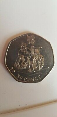 London Olympic 2012 Boccia 50P Coin 2011 Fifty Pence Wheelchair Circulated