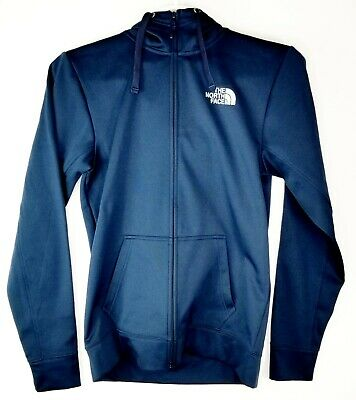 The North Face Mens Hooded Zip Up Hoodie Sz Small S Navy Blue TNF Fall Free SH