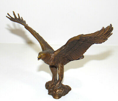 Avon Bald Eagle Bronze Figurine Statue Artist Tom Obrien 1985