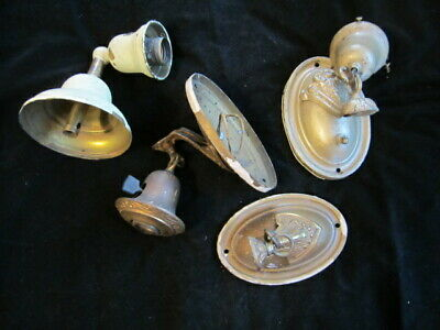 Vintage Brass Sconce/Wall Light Fixture Parts