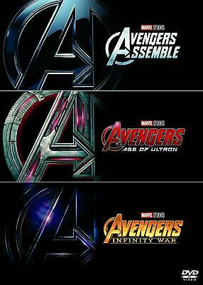 Avengers Collection 1-3 Assemble Age Of Ultron Infinity War DVD Box Set 3 Movie