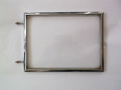 Glass/ Chrome Rim From An Old  Mantle Clock  7 Inch Wide.5 1/4 High Ref Mn12