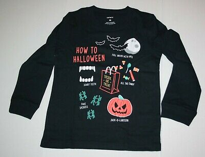 New Carter's Boys Halloween Bat Candy Spiders Graphic Tee Top 3T 4T 5T