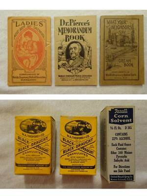 Vtg Black Draught Rexall Corn Solvent World's Dispensary Medical Booklet Lot 6