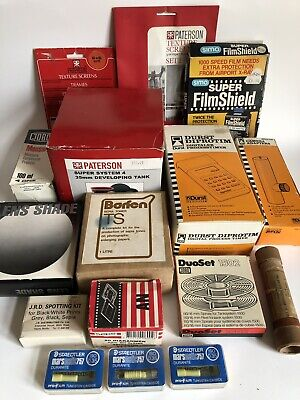Big Bundle Of VINTAGE PHOTOGRAPHIC DARK ROOM EQUIPMENT Open In Packets/Unused