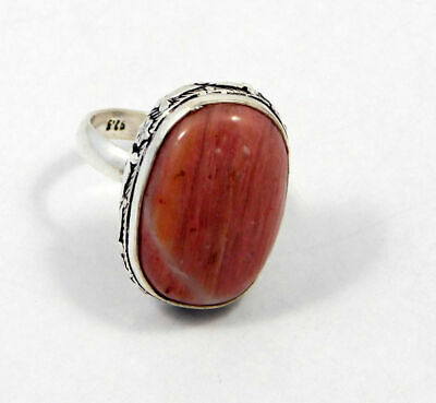 Natural Pink Calcite Gemstone Ring Size-7 Silver Plated Fashion Gift JT1502