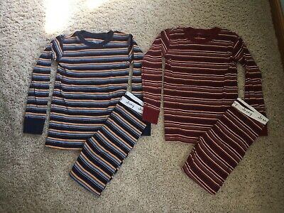 Toddler boy two piece pajamas 5T - Old Navy, striped, snug fit, GUC!