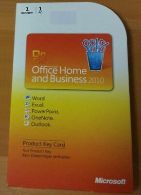 MS Office 2010 Home and Business PKC Vollversion (Word, Excel...) deutsch