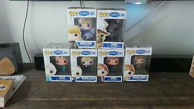 6 Disney Funko pop figures Frozen lot in box New