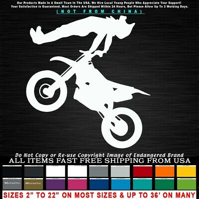 Motorcycle Dirt Track Flyer flat Jump Biker stunts Fox race trick Sticker Decal