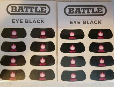 2 new packs of BATTLE sports Eye Black 8 per pack (16 total) Anti-Glare Easy app