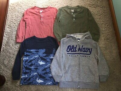 Toddler boy long sleeved tops 4T - Carter's & Old Navy, GUC!