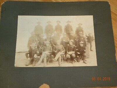 Vintage Spanish American War soldiers on card estimated 1899 Theodore Roosevelt