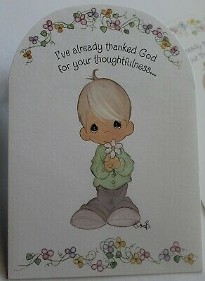 Details about  /VINTAGE HALLMARK 1999 PRECIOUS MOMENTS EMBOSSED GET WELL GREETING CARD MINT