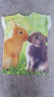 Easter Bunny Rabbit cute Tshirt Primark Size 6
